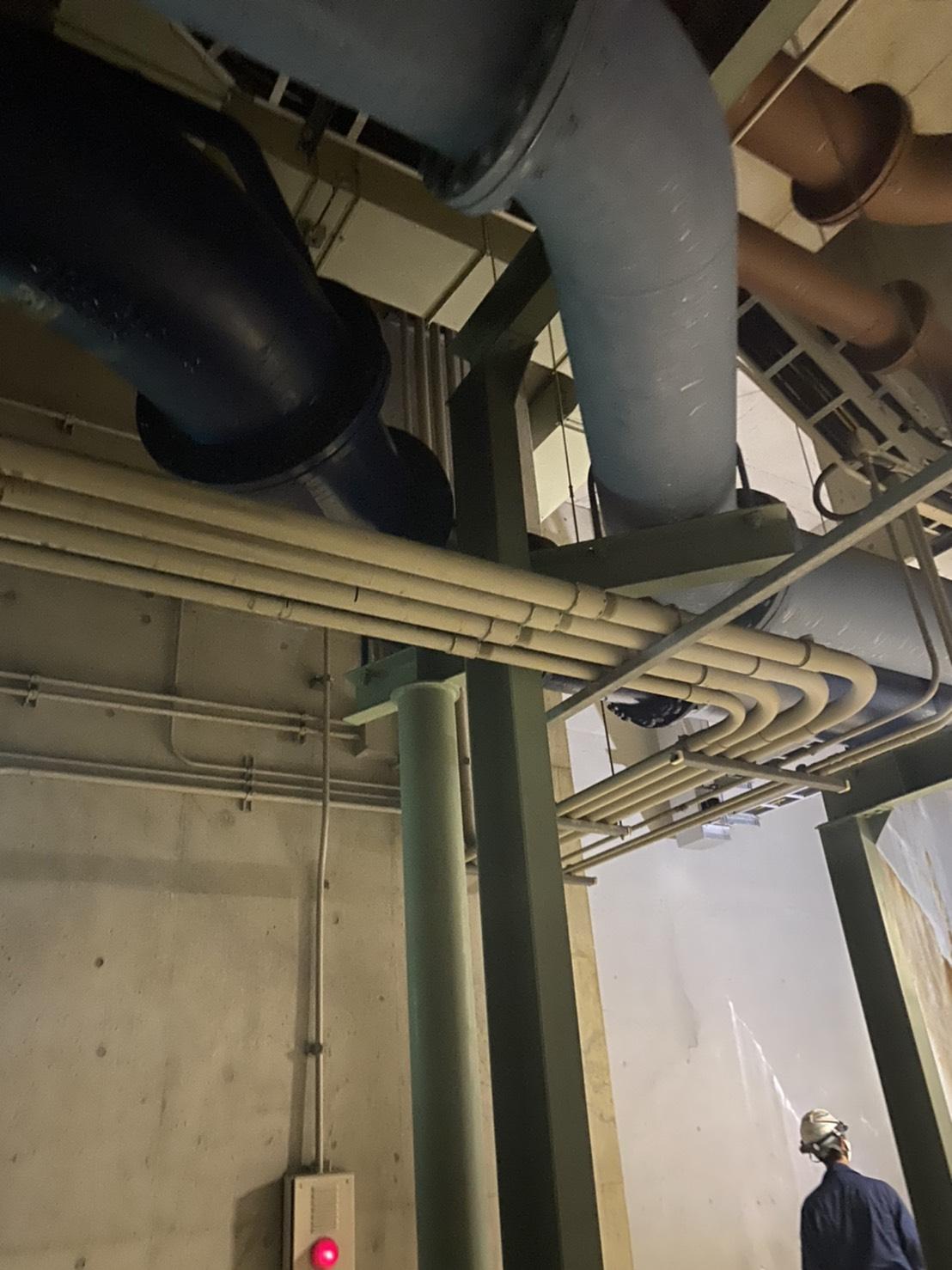 愛知県某工場 空調配管・水道管などの点検工事