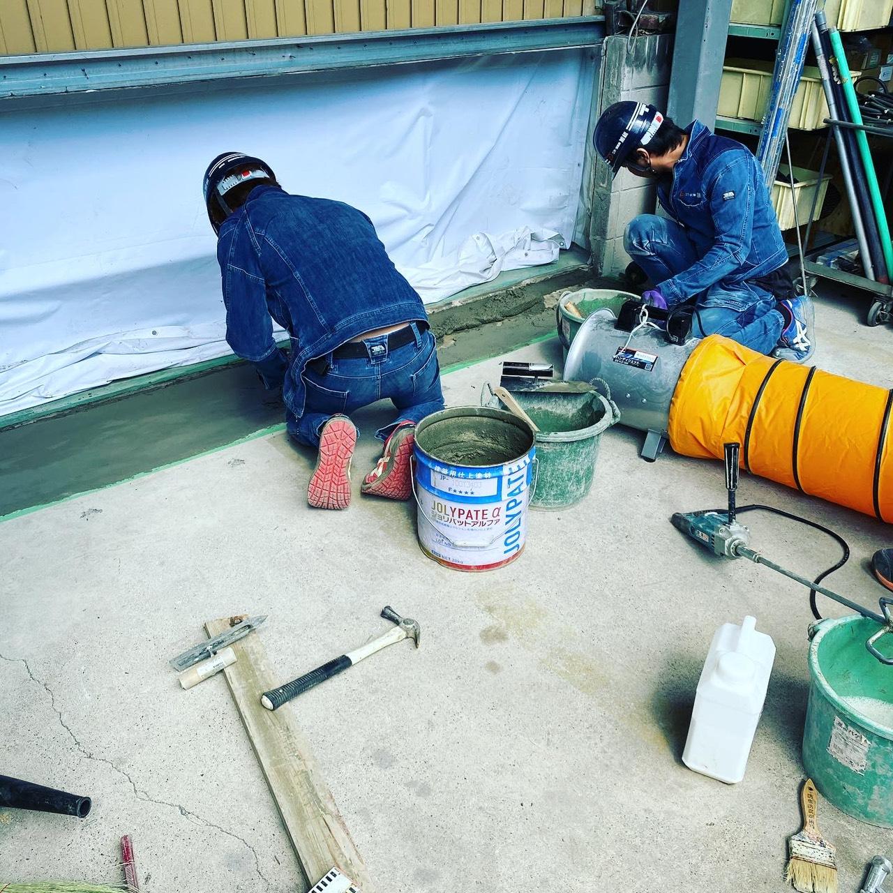 三重県某工場 左官工事