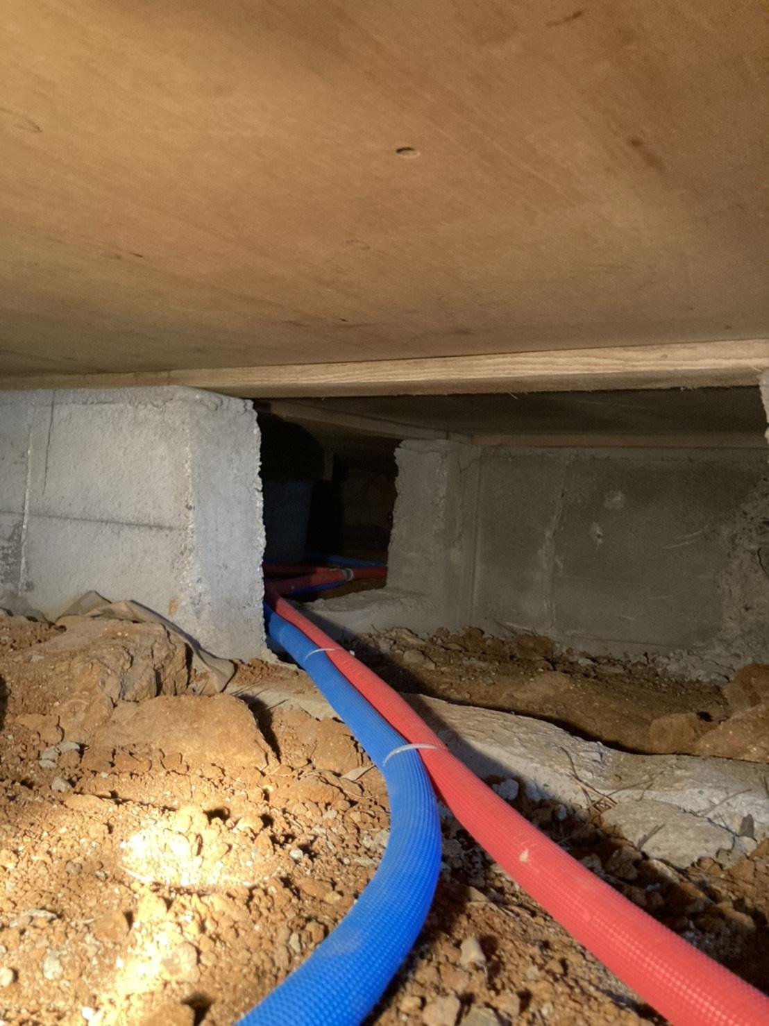 三重県 床下漏水修復 給水、給湯配管工事