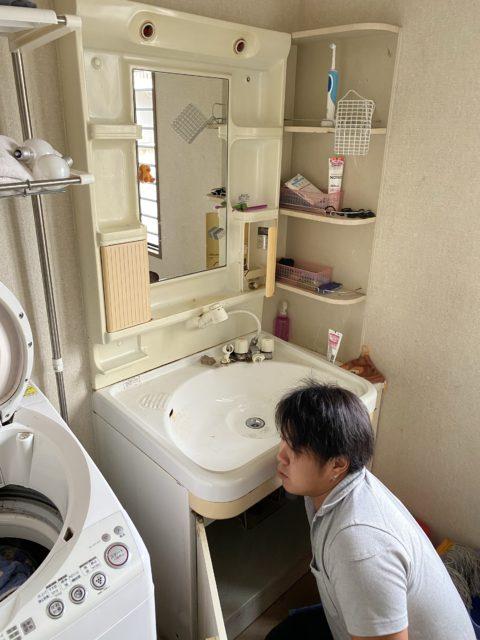洗面化粧台交換 エコカラット取付