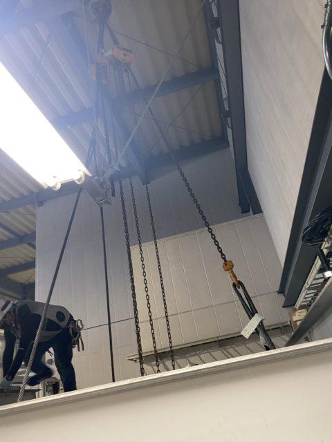 三重県四日市市某工事 機械据付工事